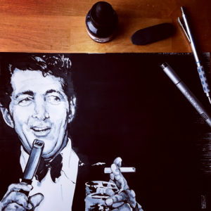 Dean Martin -Inktober 2018 by Andy Rogers