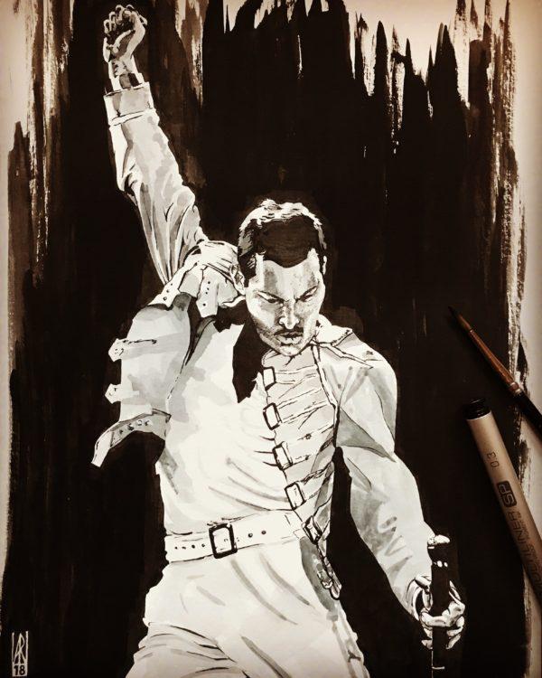 Freddie Mercury - Inktober 2018