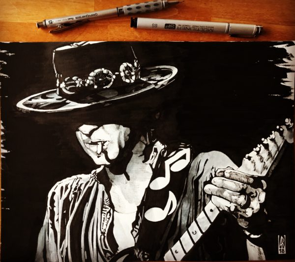 Stevie Ray Vaughan - Inktober 2018