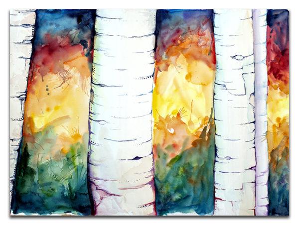 White Birch canvas print